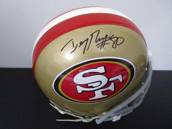 Jerry Rice of the SF 49ers signed full size SB XXIX CUSTOM football helmet PAAS COA 724