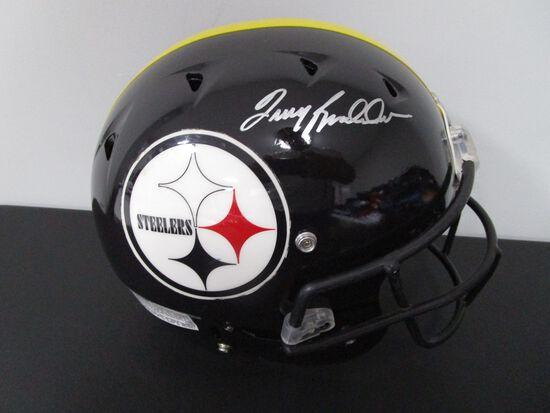 Terry Bradshaw of the Steelers signed autographed full size CUSTOM football helmet PAAS COA 728