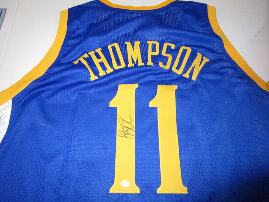 Klay Thompson of the Golden State Warriors signed autographed basketball jersey PAAS COA 217