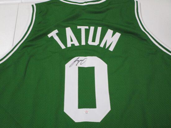 Jayson Tatum of the Boston Celtics signed autographed basketball jersey PAAS COA 036