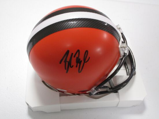 Baker Mayfield of the Cleveland Browns signed autographed mini football helmet PAAS COA 469