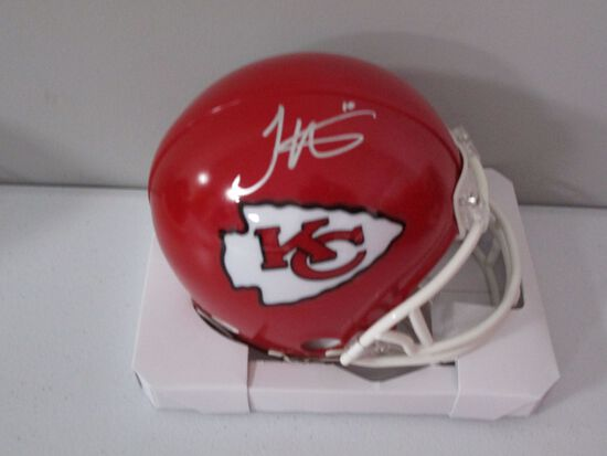 Tyreek Hill of the Kansas City Chiefs signed autographed mini football helmet PAAS COA 791