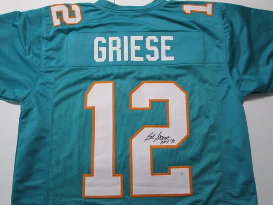 Bob Griese of the Miami Dolphins signed autographed football jersey PAAS COA 164
