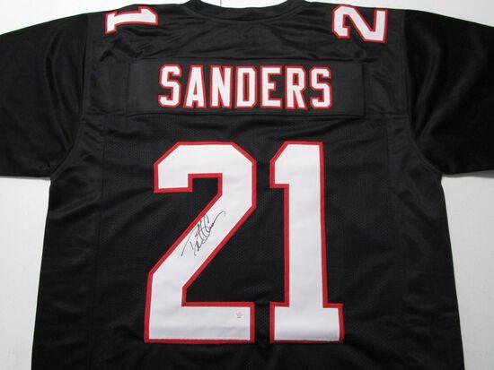 Deion Sanders of the Atlanta Falcons signed autographed football jersey PAAS COA 091