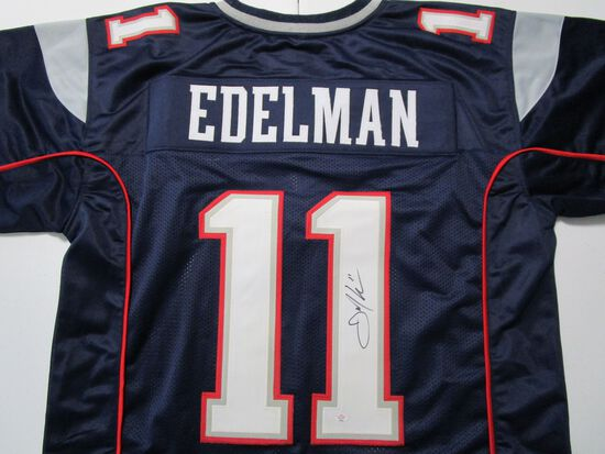 Julian Edelman of the New England Patriots signed autographed football jersey PAAS COA 652