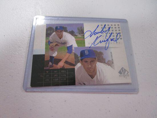 Sandy Koufax LA Dodgers signed autographed baseball card 2000 Upper Deck SP