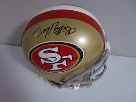 Jerry Rice of the San Francisco 49ers signed autographed FULL SIZE helmet PAAS COA 724
