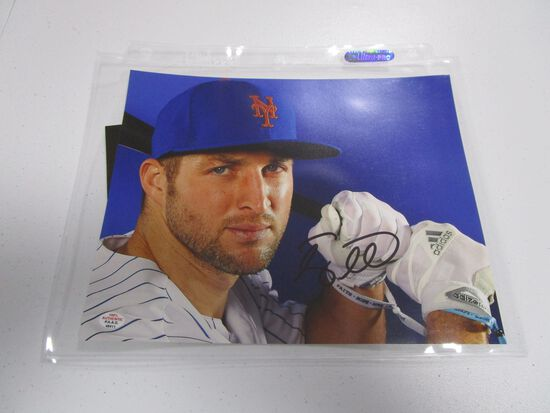 Tim Tebow of the New York Mets signed autographed 8x10 photo PAAS COA 411