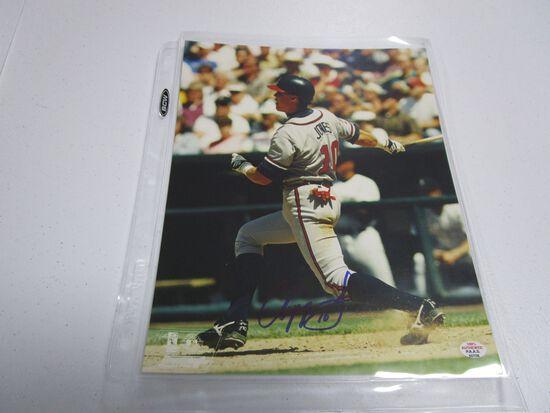 Chipper Jones of the Atlanta Braves signed autographed 8x10 photo PAAS COA 708