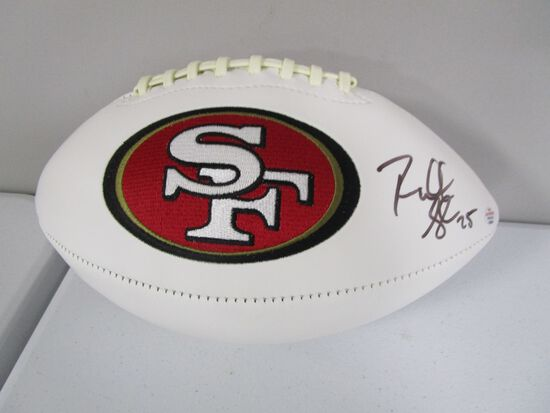 Richard Sherman of the San Francisco 49ers signed autographed logo football PAAS COA 623