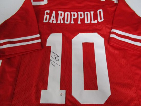 Jimmy Garoppolo of the San Francisco 49ers signed autographed football jersey PAAS COA 799