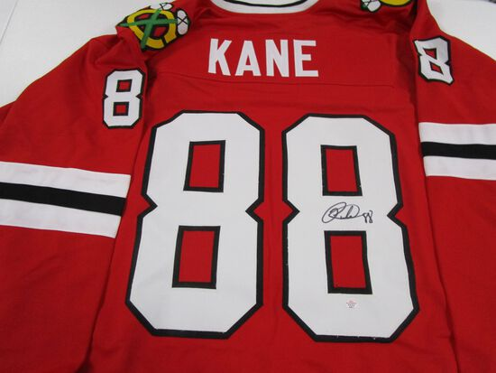 Patrick Kane of the Chicago Blackhawks signed autographed hockey jersey PAAS COA 971