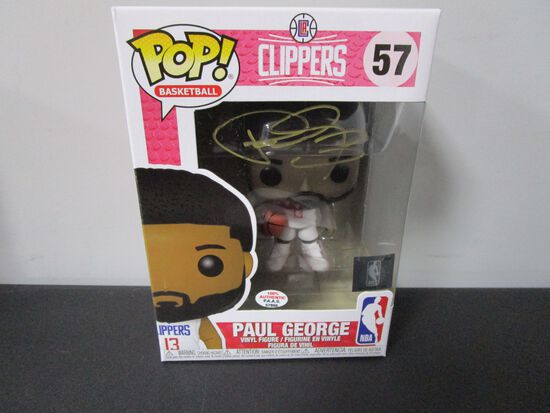 Paul George of the LA Clippers signed autographed POP Funko Figure PAAS COA 866