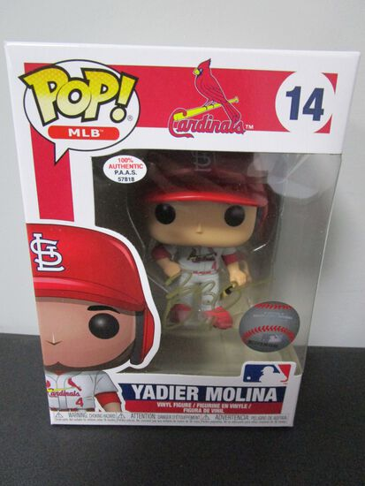 Yadier Molina of the St Louis Cardinals signed autographed POP Funko Figure PAAS COA 818
