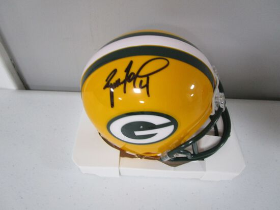 Brett Favre of the Green Bay Packers signed autographed mini football helmet PAAS COA 836