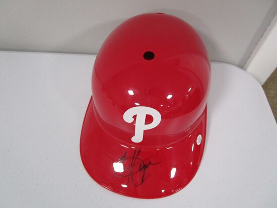 Bryce Harper of the Philadelphia Phillies signed autographed souvenir batting helmet PAAS COA 092