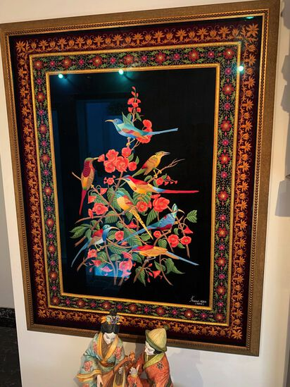 Tapestry - Indian Themed - signed by Shams-agra India