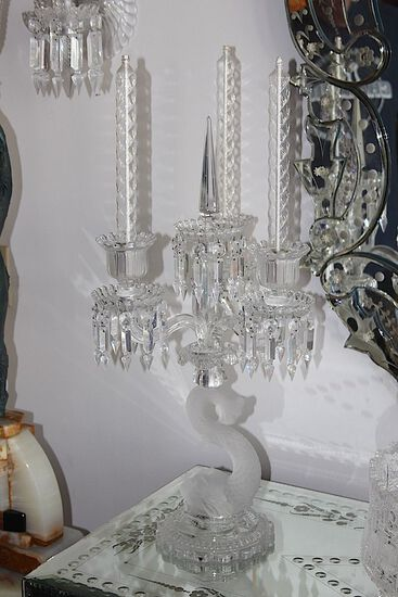 Baccarat Crystal Candelabra - Pair -excellent condition