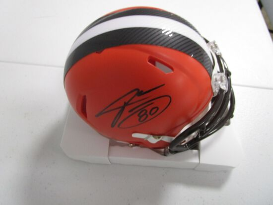 Jarvis Landry of the Cleveland Browns signed autographed mini football helmet PAAS COA 134
