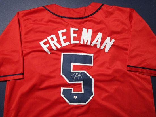 Freddie Freeman of the Atlanta Braves signed autographed baseball jersey PAAS COA 374