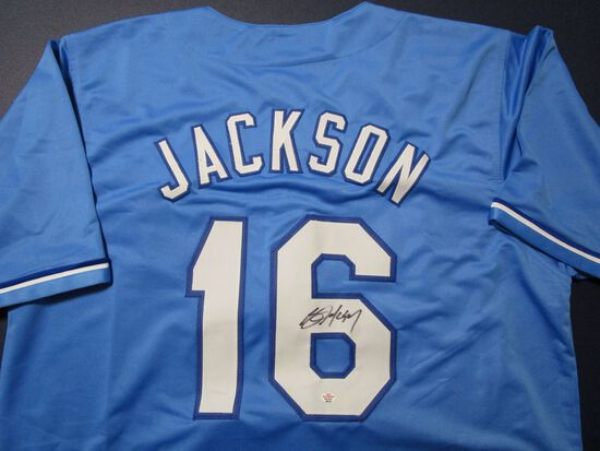 Bo Jackson of the Kansas City Royals signed autographed baseball jersey PAAS COA 379
