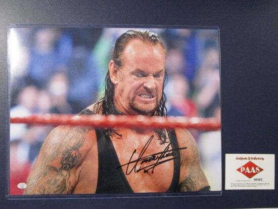 Undertaker of the WWE signed autographed 11x14 photo PAAS COA 483