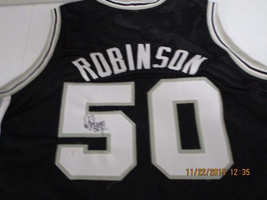 David Robinson of the San Antonio Spurs signed autographed basketball jersey PAAS COA 979