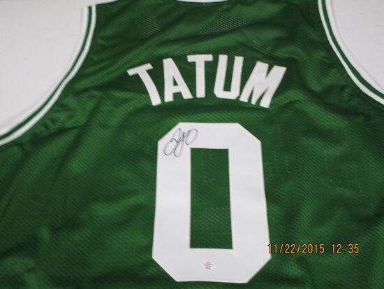 Jayson Tatum of the Boston Celtics signed autographed basketball jersey PAAS COA 362