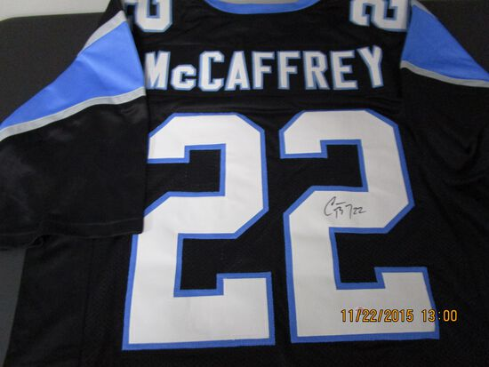 Christian McCaffrey of the Carolina Panthers signed autographed football jersey PAAS COA 140