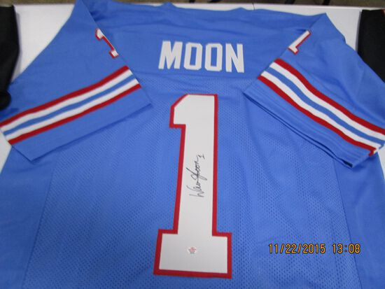 Warren Moon of the Houston Oilers signed autographed football jersey PAAS COA 163