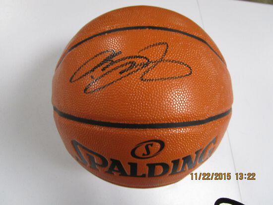 LeBron James of the LA Lakers signed autographed full size basketball ATL COA 726