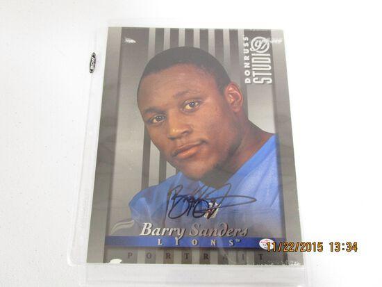 Barry Sanders of the Detroit Lions signed autographed 8x10 Donruss Portrait photo PAAS COA 022