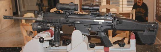 FN SCAR 17S  7.62 CAL   FOLDING STOCK/ SUREFIRE LIGHT/ VORTEX MAGNIFIER VMX-3T/ AIMPOINT COMPM4S/ 1