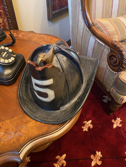 Early 1900's Cairns Fire Fighter Helmet