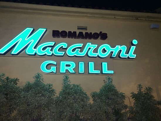 "Outdoor Sign ""Macaroni Grill"""