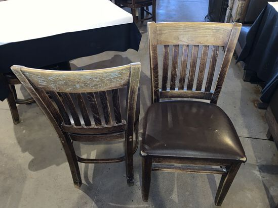 (40) Reverse Ladderback Wooden Chairs