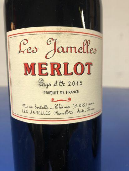 """Les Jamelles Merlot Pays d"""" Oc 2015"""