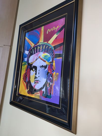 "Peter Max, Statue of Liberty, 36"" X 42"""