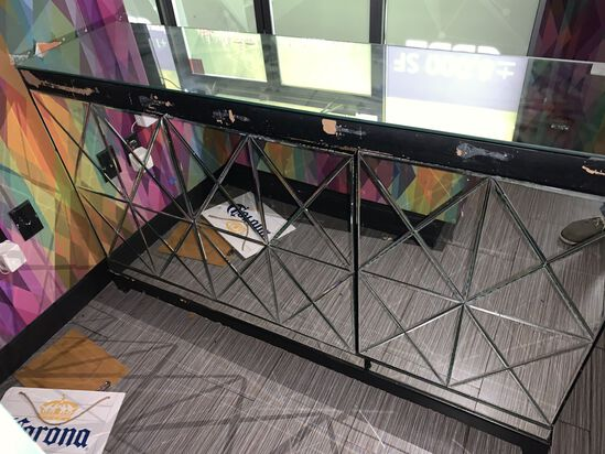 """60"""" Mirror Consol Unit, Used For Reception"""