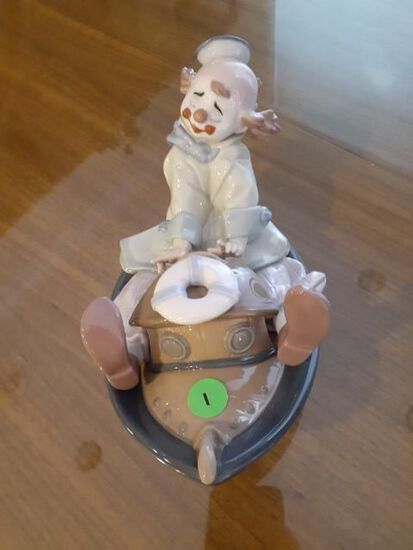 Clown riding boat - lladro Privilege