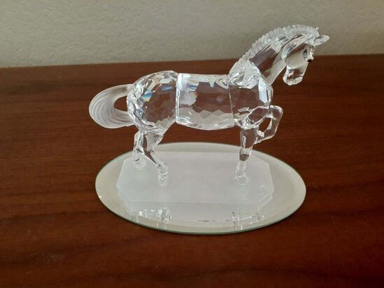 Swarovski Pancing Horse with mirrored base