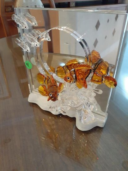 Swarovski Crystal - 2 Clown fish - Harmony - Wonders of the Sea by Martin Zendron