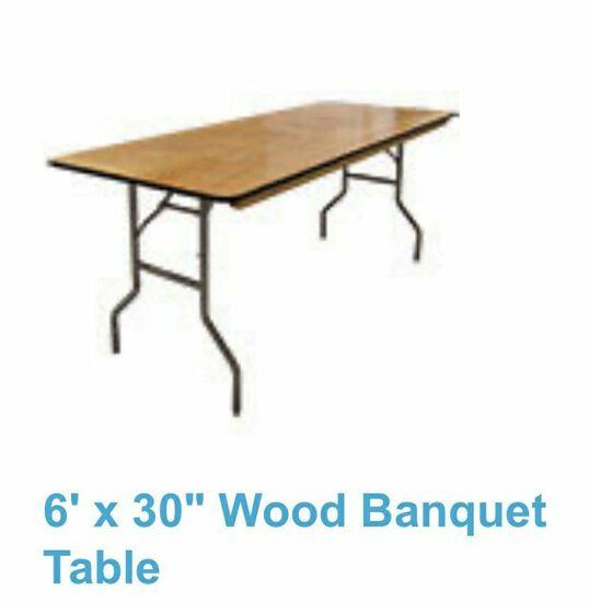 Rectangular 6' Table