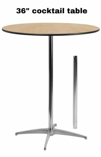 """Cocktail Tables 36"""""""
