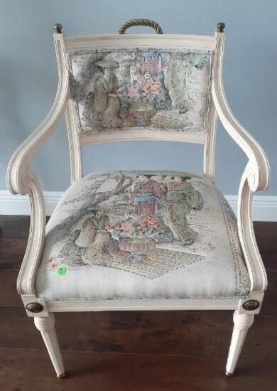 Vintage Oriental side chair - Cloth