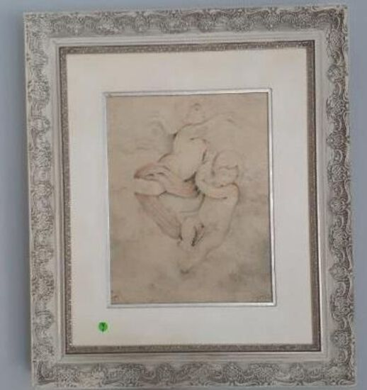 Two cherubs by Parrish - Limited ed. Framed - 18 of 275 -25 x 29 inches