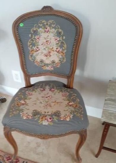 Pair of Vintage Needlepoint Chairs