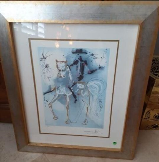 Dali - Cavalier Series - limited ed. 498 of 500 - Lithrograph of Paper w COA