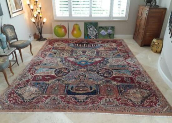 Large Persian Rug with amazing colors - 9.5 x 12 foot
