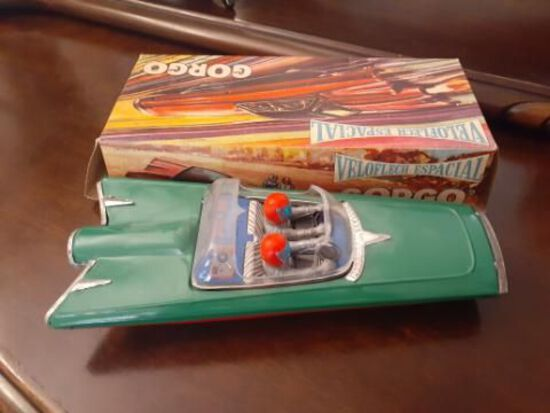 Gorgo VeloFlech Espacial Toy Car with Original Box - Future Car - 11 x 5 inches